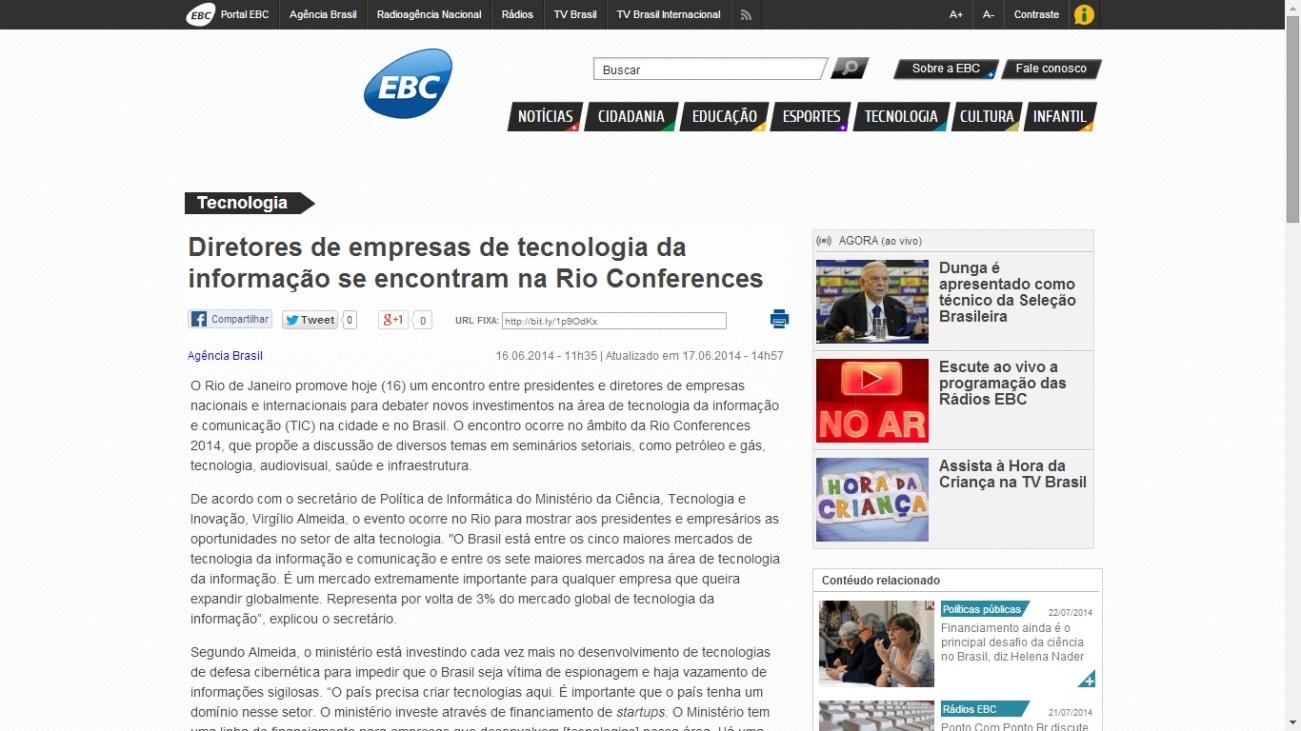 Agência Brasil – Diretores de empresas de tecnologia da informação se encontram na Rio Conferences