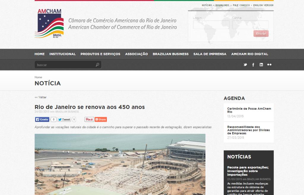 AMCHAM - Rio de Janeiro se renova aos 450 anos