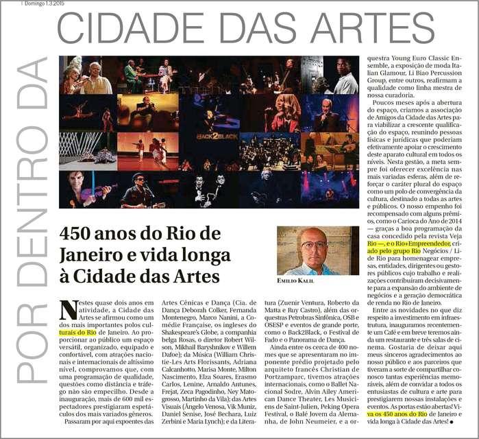 O Globo – Por dentro da Cidade das Artes