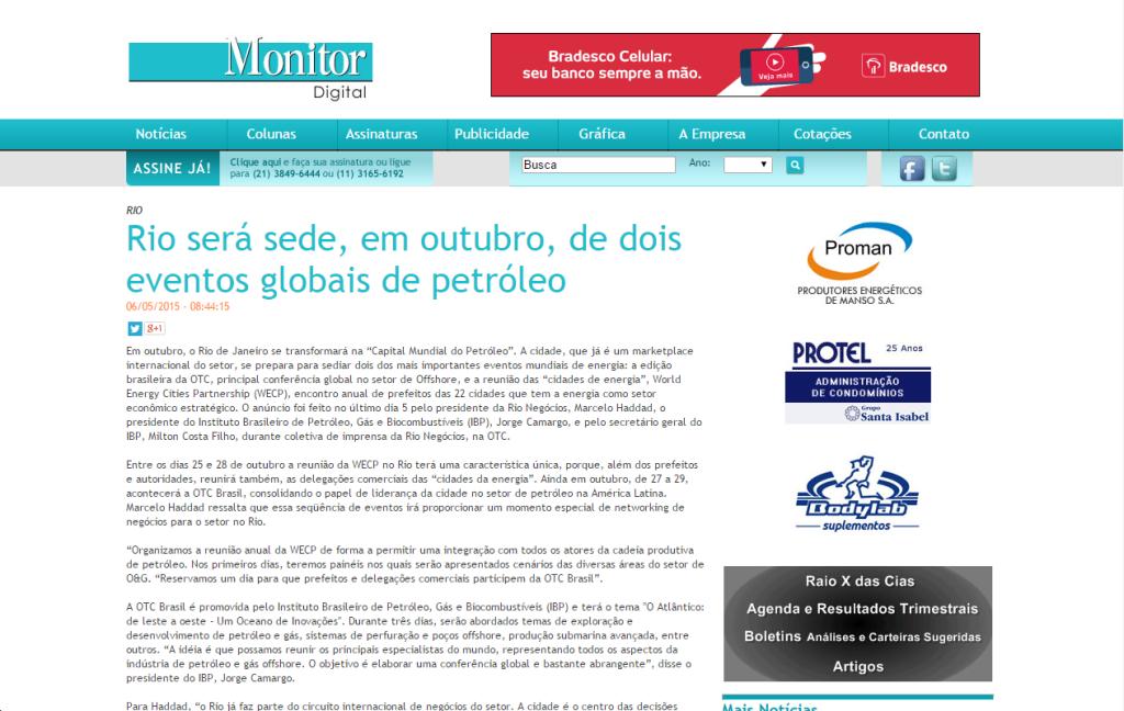2015-06-15 16_32_23-Rio será sede, em outubro, de dois eventos globais de petróleo - Monitor Mercant