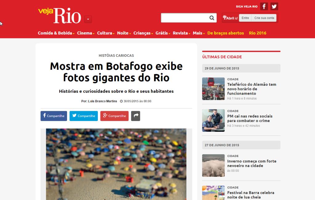 Veja Rio – Mostra em Botafogo exibe fotos gigantes do Rio
