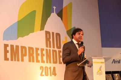 Marcelo Haddad, presidente da Rio Negócios, no Prêmio Rio Empreendedor 2014