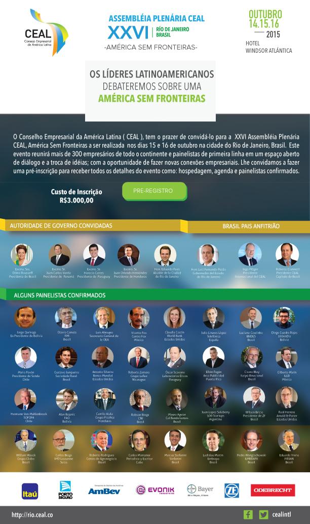XXVI Assembleia Plenária CEAL, América Sem Fronteiras