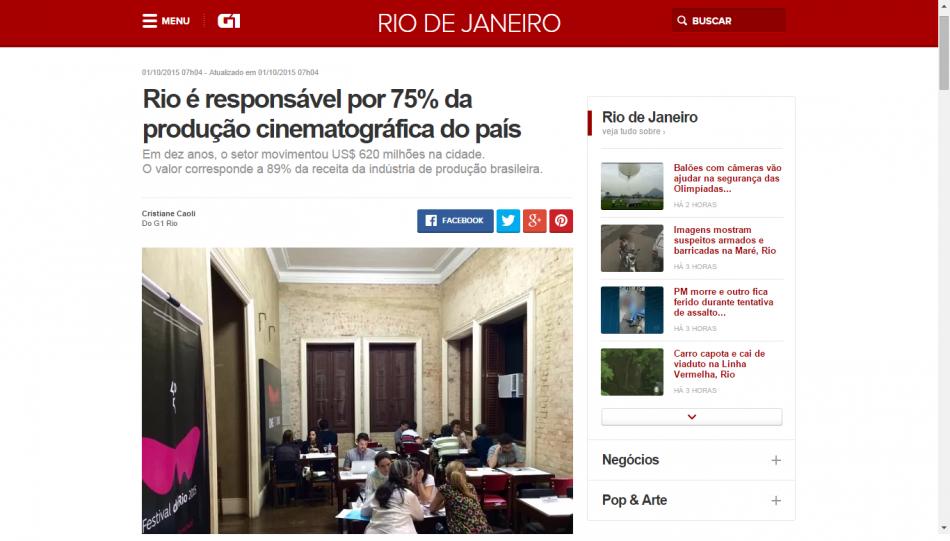 G1 01-10-2015 Rio é responsável por 75