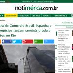 Notiamérica – Câmara de Comércio Brasil-Espanha e Rio Negócios lançam seminário sobre projetos no Rio